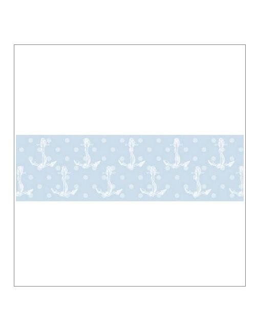Бумажный скотч Морской принт