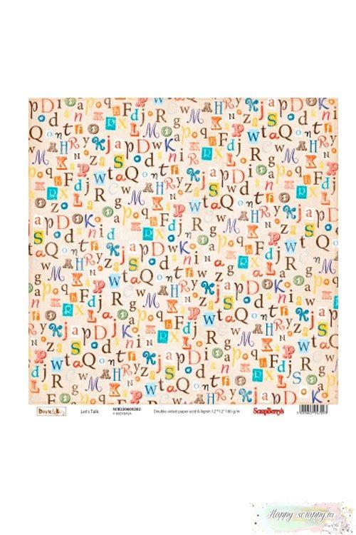 Лист бумаги ScrapBerry's Басик Поговорим