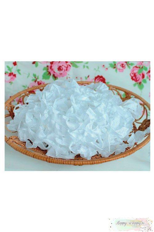 Шебби лента Белая 1м