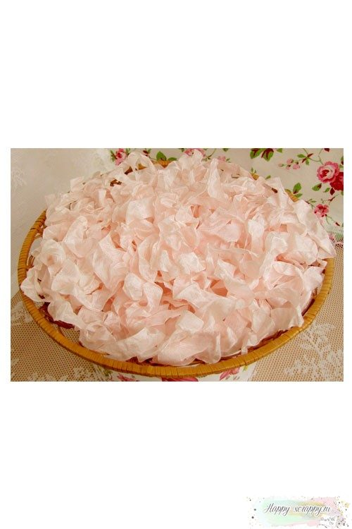 Шебби лента Теплый Розовое облако 1м