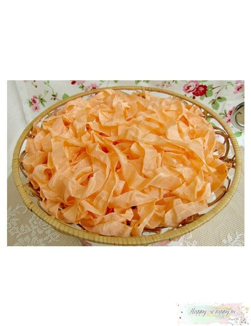 Шебби лента Оранжевый персик 1м
