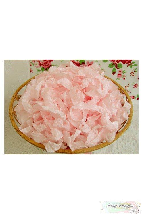 Шебби лента Пепельный розовый 1м