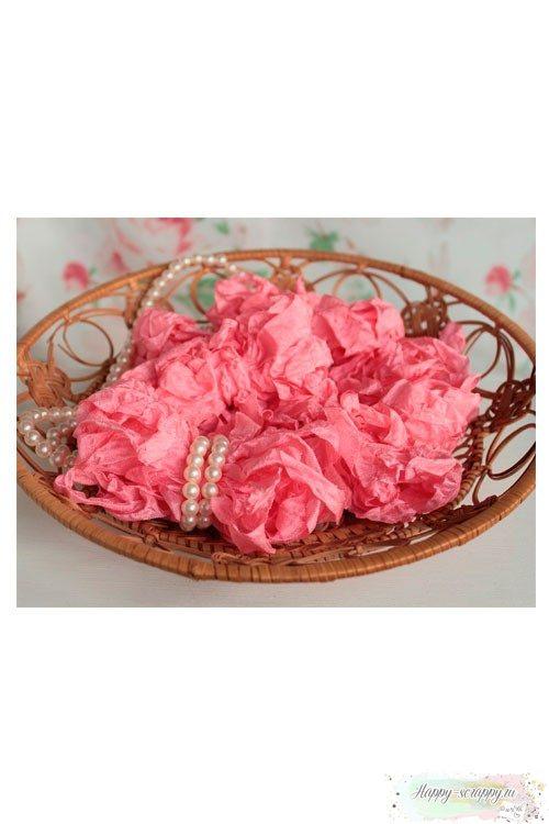Шебби лента Теплый розовый 1м