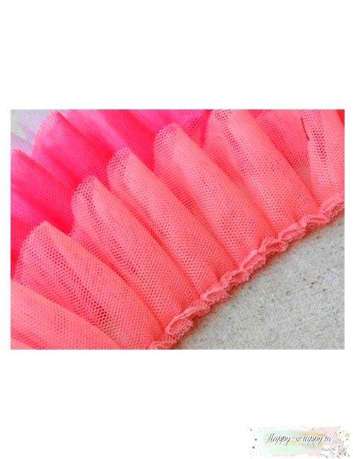Сетка-оборка розовая 5 см
