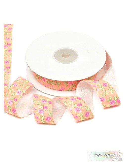 Лента декоративная персиковая