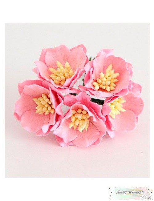 Мак розовый 3 см (1 шт)