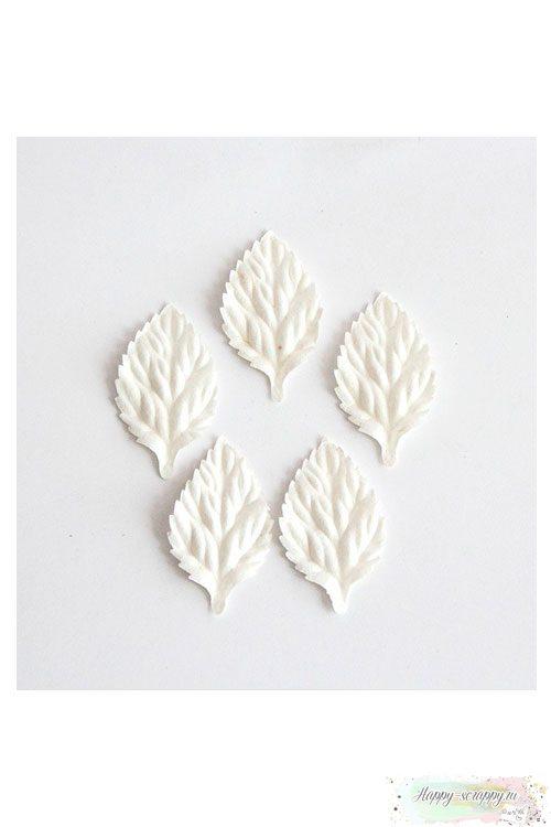 Листочки бумажные белые