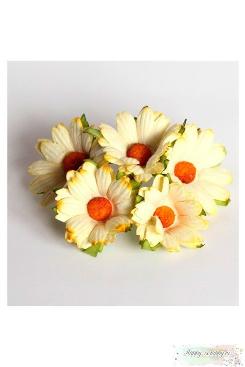 Ромашки св.желтые 4 см (5 шт)