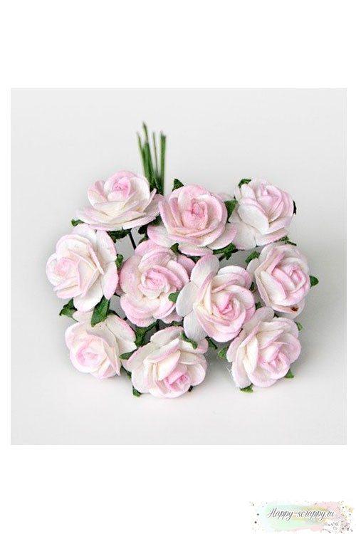 Розы белые и св-розовые