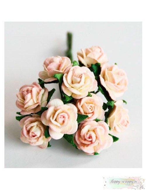 Розы молочно-св.розовые