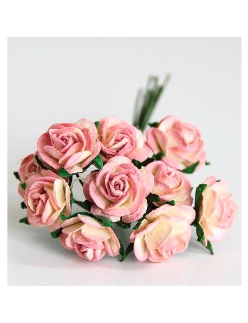 Розы молочно-розовые