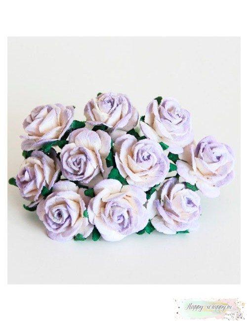 Розы св.сиреневый-белый