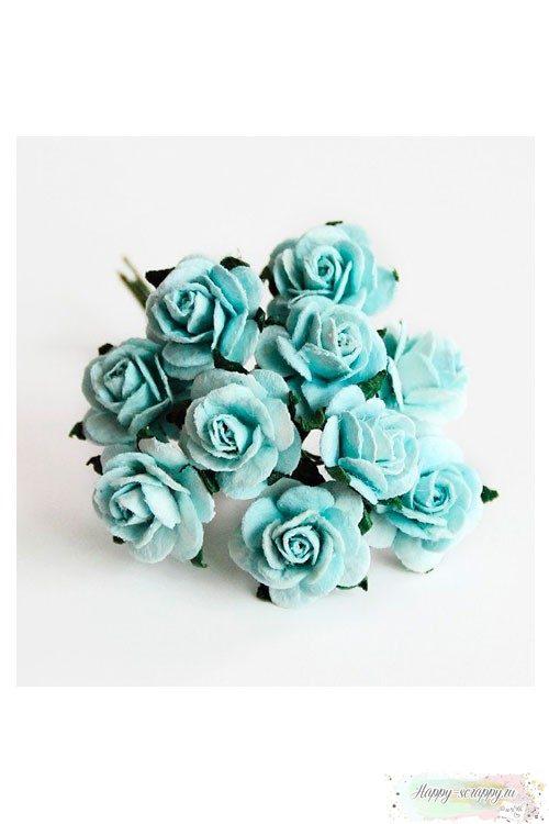 Розы бирюзовые