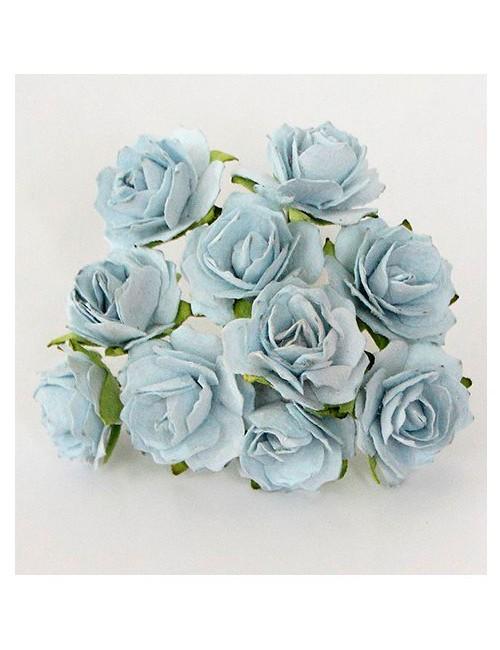 Кудрявые розы голубые