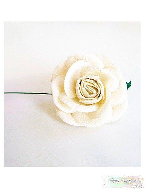 Роза белая 5 см