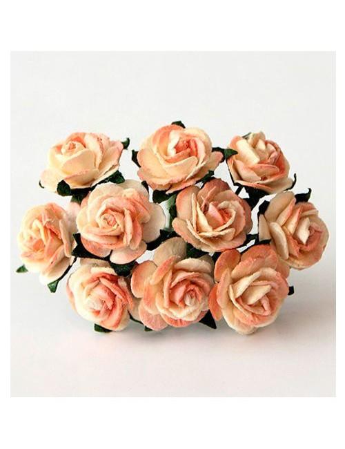 Розы желто-оранжевые