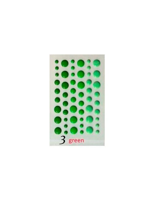Эмалевые капли дотсы Зеленые