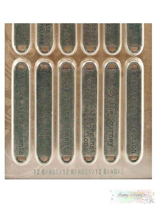 Металлические таблички (12 шт)