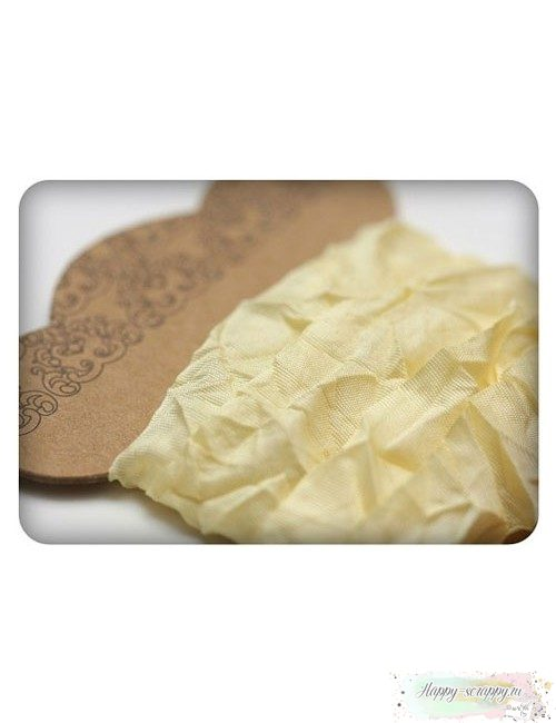 Шебби лента нежно-желтая