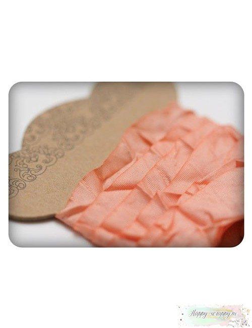 Шебби лента персиковая 1м