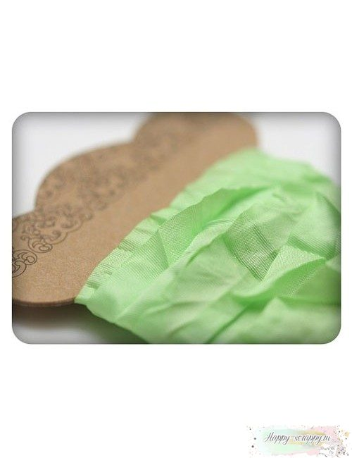 Шебби лента светло-зеленая 1м