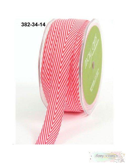 Лента шеврон красная - 2 см - 1 ярд