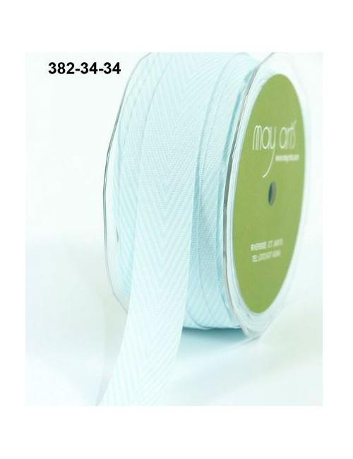 Лента шеврон светло-голубая - 2 см - 90 см