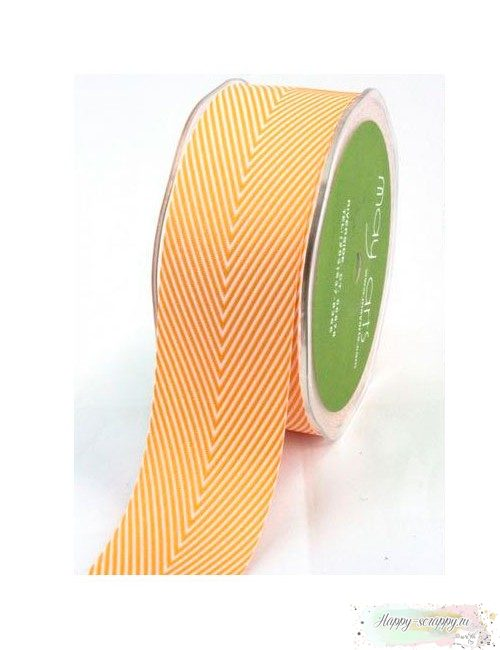 Лента шеврон оранжевая - 3,7 см - 1 ярд