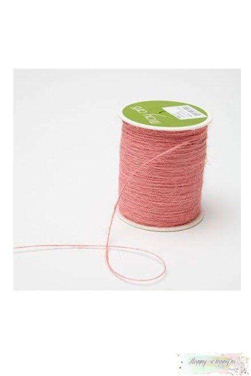 Ворсистый шнур розовый - 1 ярд