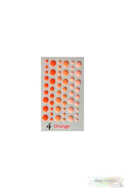 Эмалевые капли дотсы Оранжевые