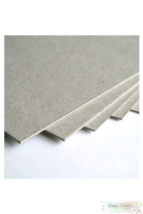 Переплетный картон плотный (серый)