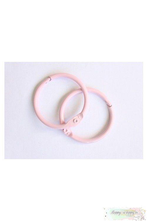 Кольца металлические розовые