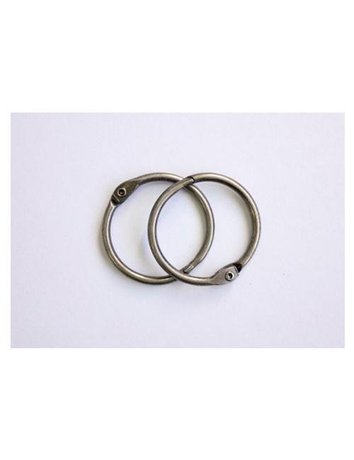 Кольца металлические серебро