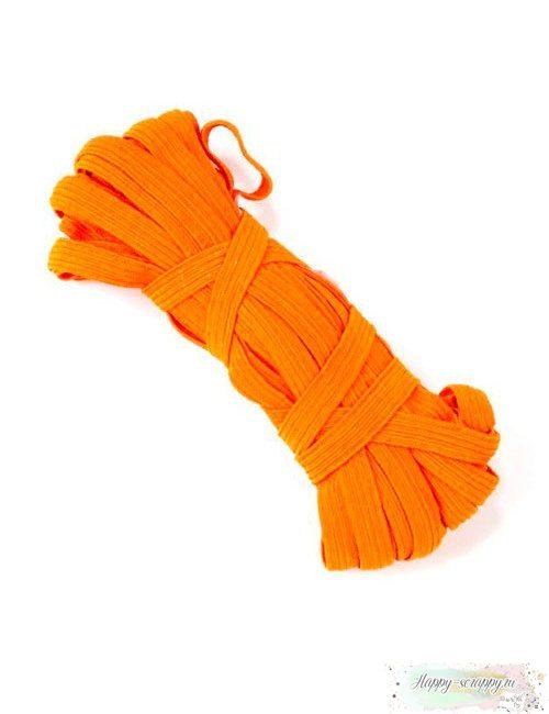 Резинка плоская оранжевая 7 мм