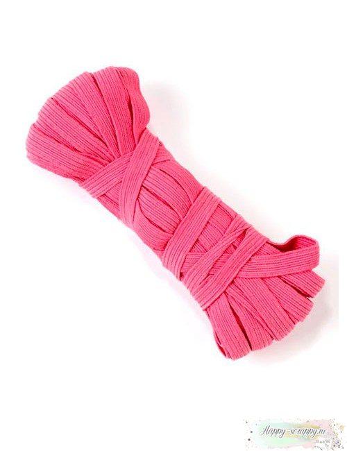 Резинка плоская розовая 7 мм