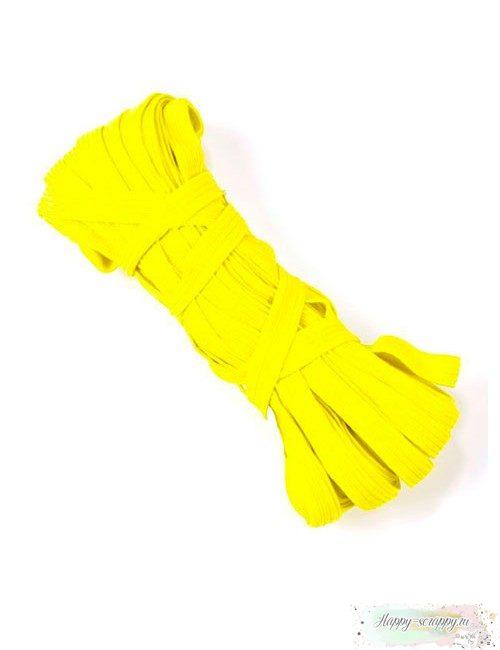 Резинка плоская желтая 7 мм