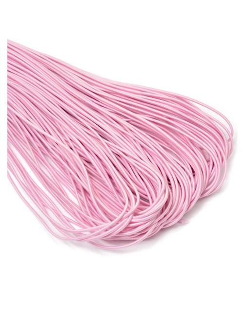 Резинка шляпная (круглая) розовая