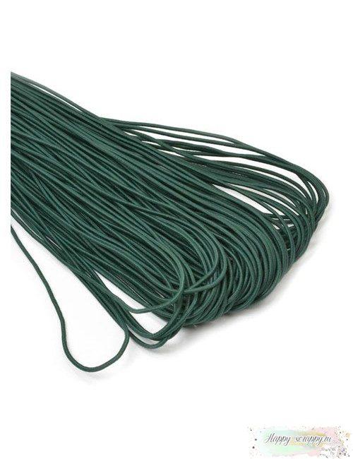 Резинка шляпная (круглая) темно-зеленая