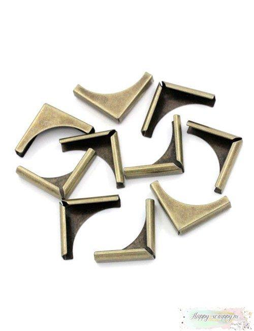 Металлические уголки Строгие бронза - 2x2 см