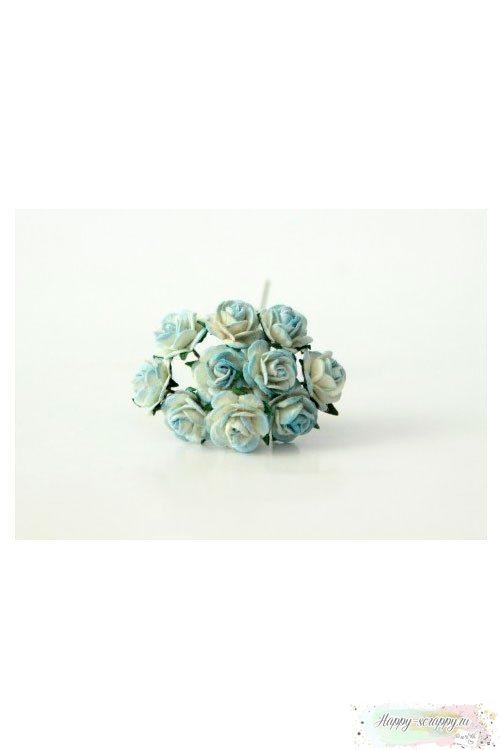 Розы светло-голубые
