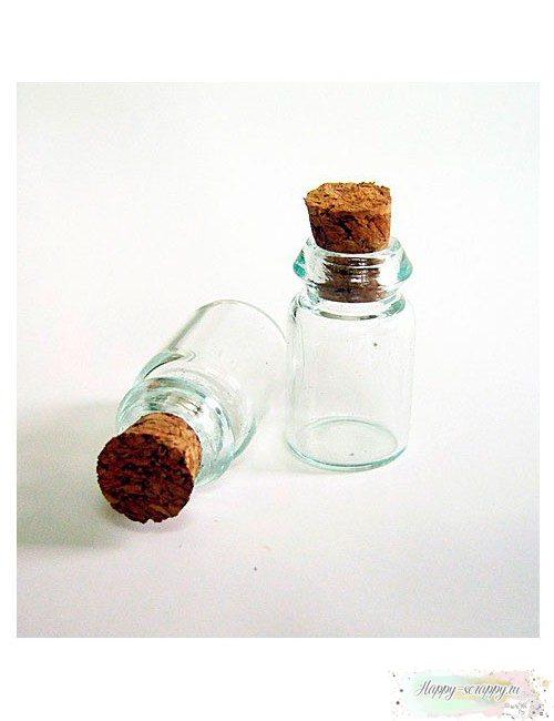 Бутылочка стеклянная №3