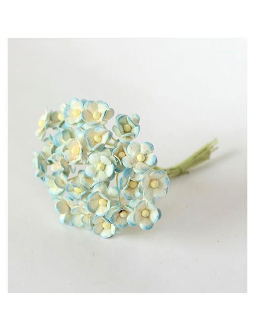Цветы мини-вишни голубые