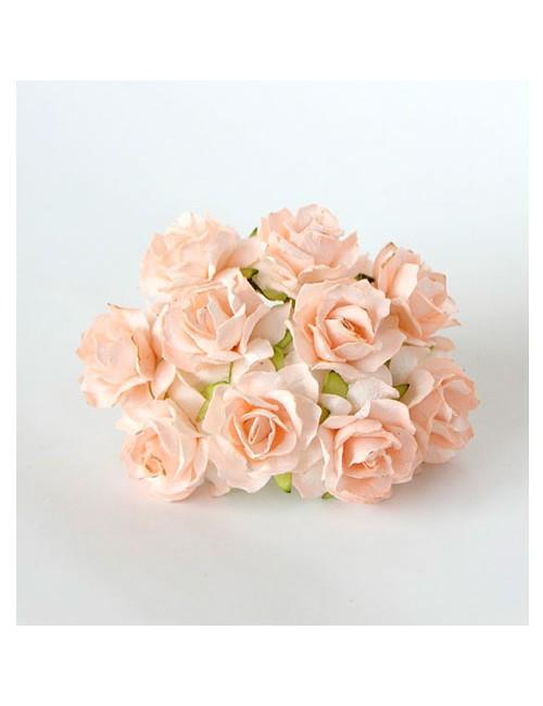 Кудрявая роза 3 см — св.персиковая