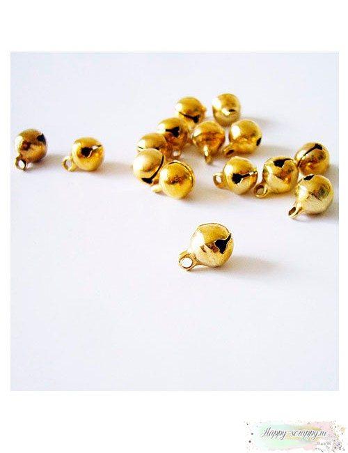 Металлическая подвеска Бубенчик золотистый