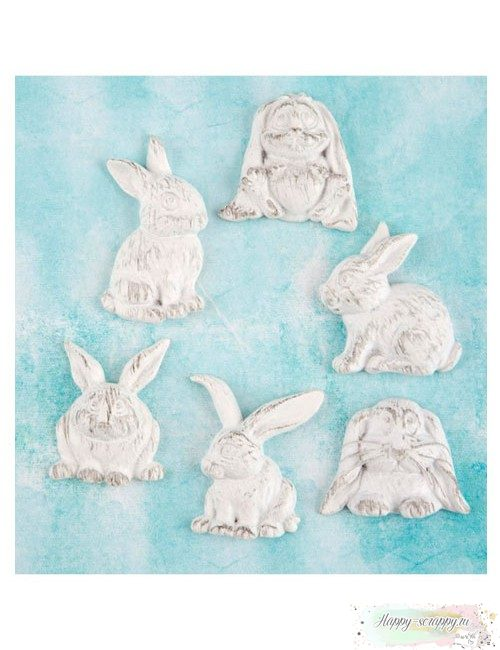 Набор гипсовых фигурок Rabbits - Кролики