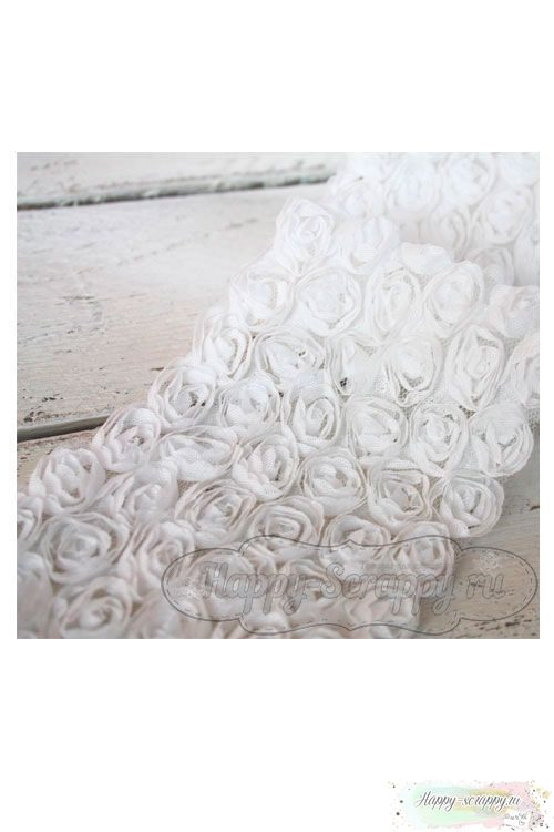 Розы на сетке - белые (10 см)