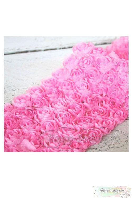 Розы на сетке - розовые (10 см)