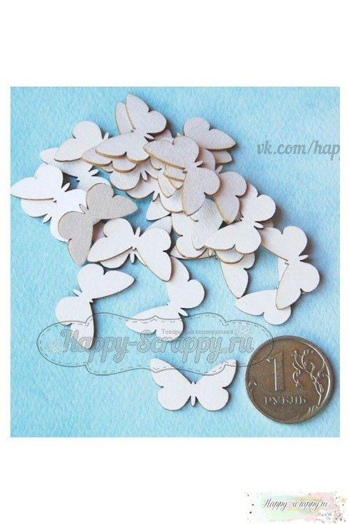 Набор чипборда из картона бабочки №3