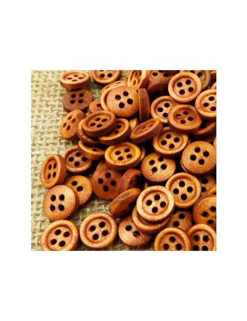 Пуговки деревянные - натуральные
