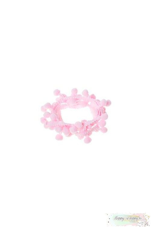 Лента пом-пон светло-розовая